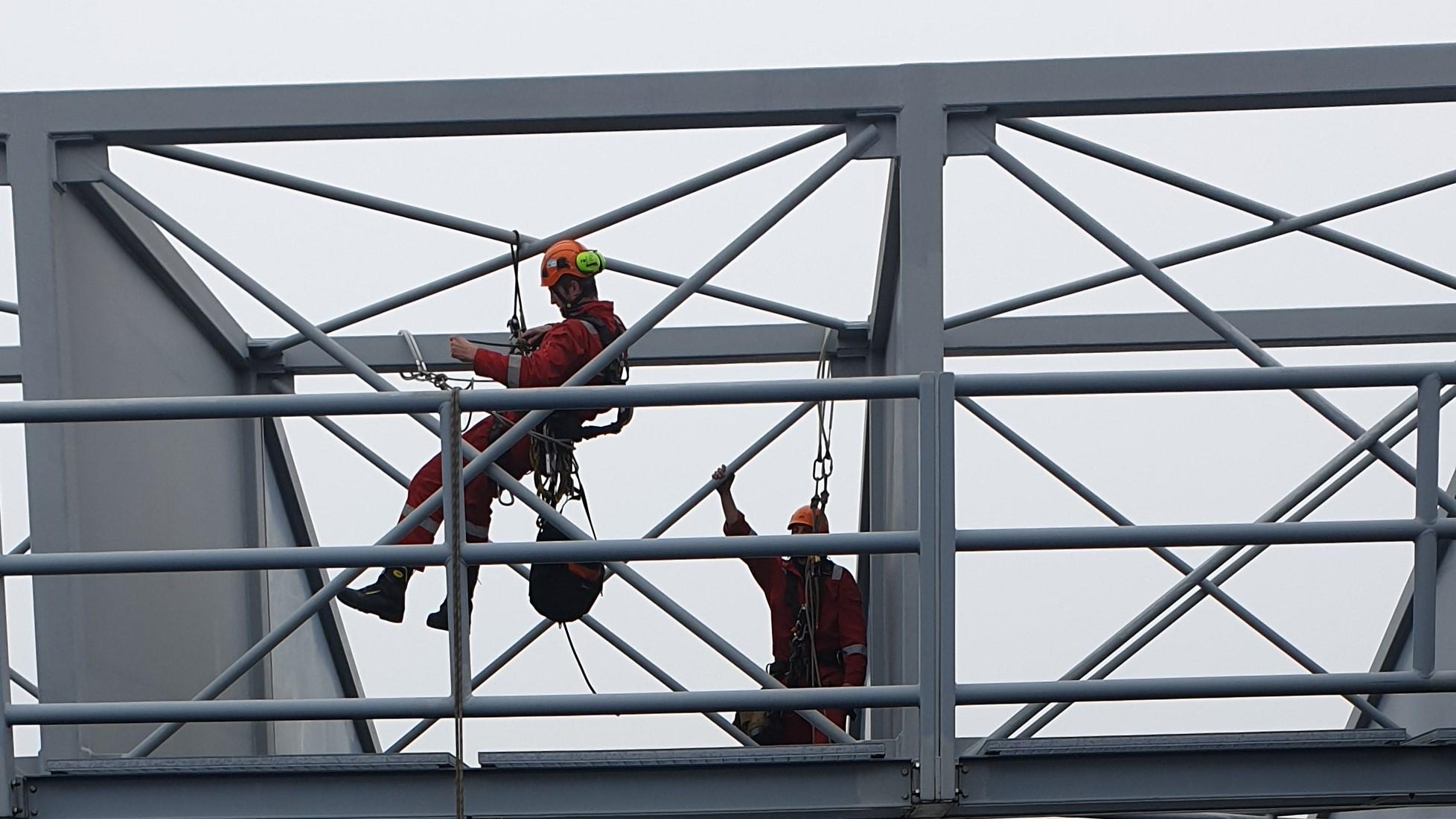 Constructie werkzaamheden coating Rope Access