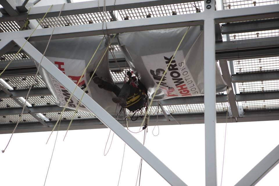 Rope Access technisch onderhoud op hoogte - HWS - High Work Solutions